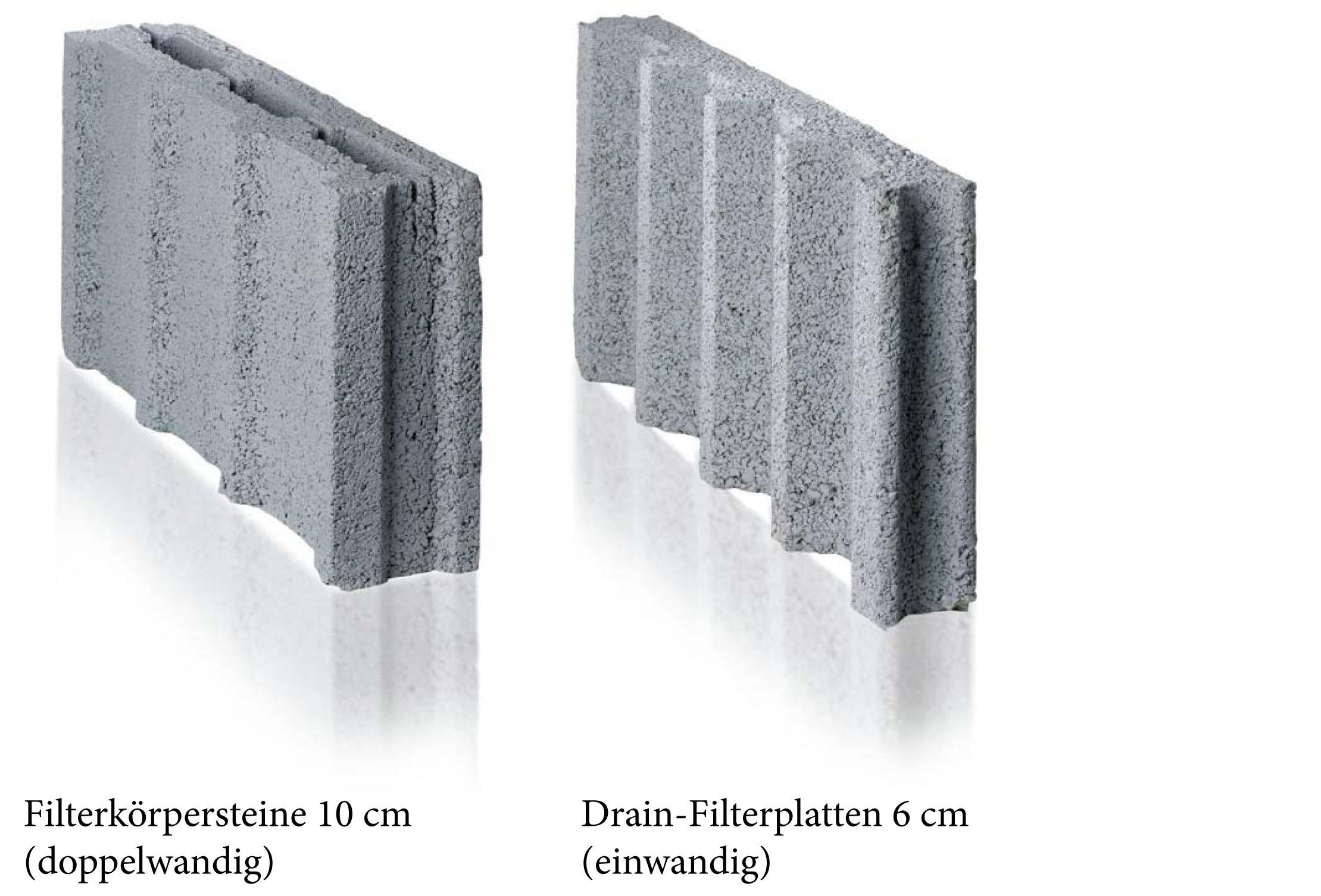 Filterkörpersteine